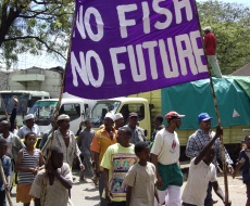 Local Fishermen demonstrate against trawling