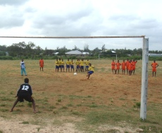 The Watamu All Stars take a penalty