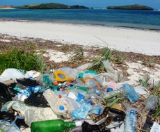 Rubbish is an eyesore on the beach