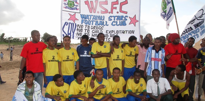 The Watamu All Stars play at the Anti Drugs Tournament in Malindi