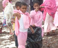 Local Children at Beach Clean Up